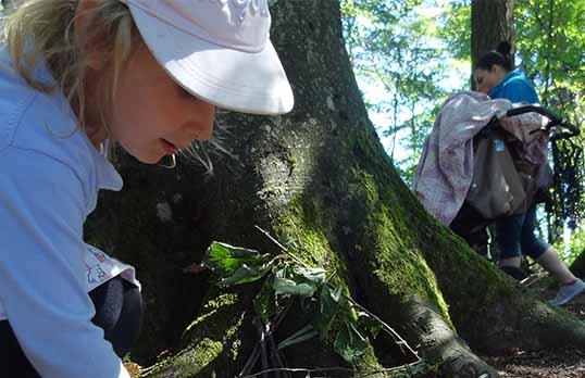 Kind beim Baum