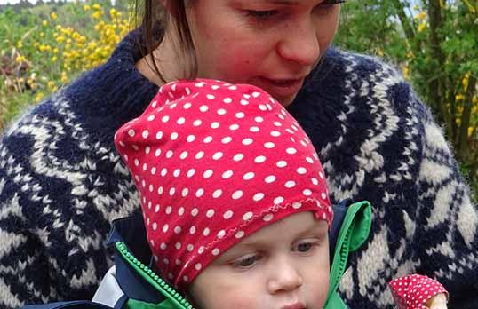 Nicole mit Kind